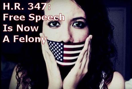 HR 347: Free Speech Is Now A Felony