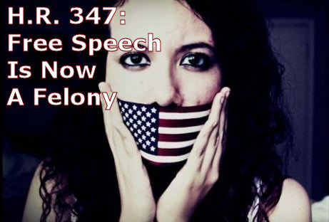 HR 347: Free Speech Is Now A Felony
