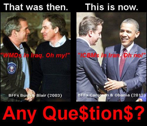 Iran Nukes, Iraq WMDs, Obama Bush, SSDD